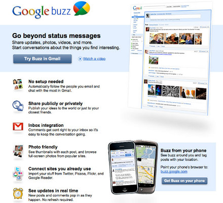 Google Buzz, il social network
