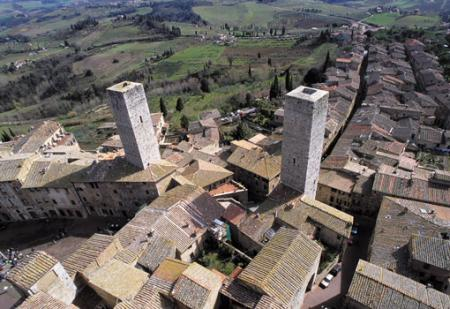 San Gimignano, veduta aerea