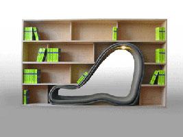 libreria con seduta