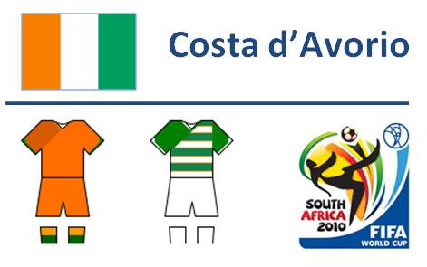 Squadra Costa d'Avorio Mondiali Sudafrica 2010