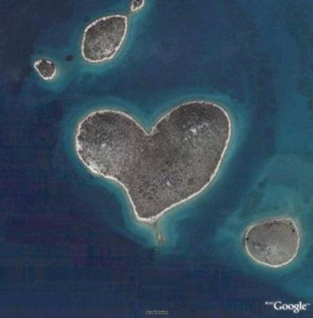 Cuori su Google Earth