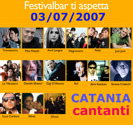 cantanti a Catania festivalbar 2007