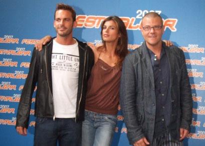 Elisabetta Canalis, Giulio Golia ed Enrico Silvestrin al festivalbar 2007