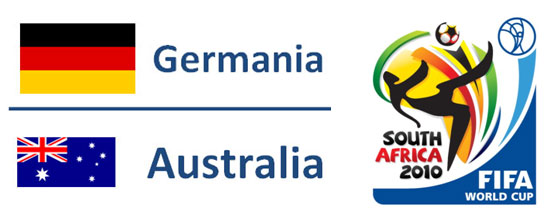 Germania - Australia Mondiali Sudafrica 2010