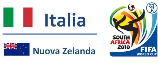 Italia-Nuova Zelanda Mondiali Sudafrica 2010