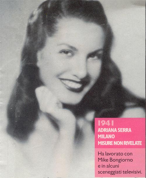 Miss Italia 1941 : Adriana Serra