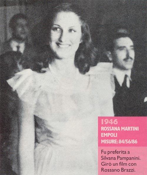 Miss Italia 1946 - Rossana Martini