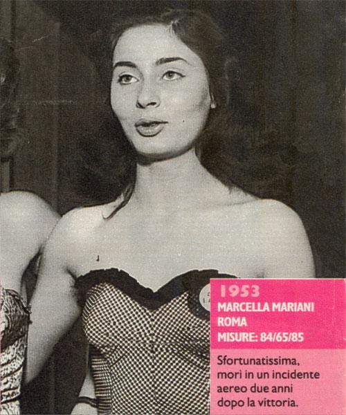Miss Italia 1953 - Marcella Mariani