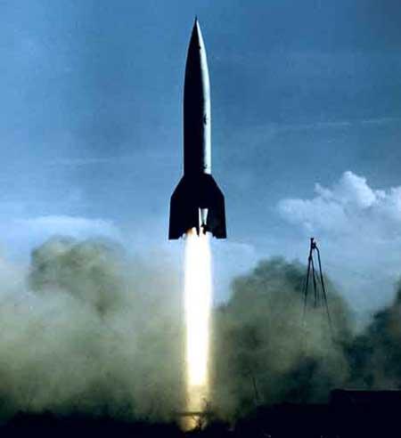 lancio del missile v-2