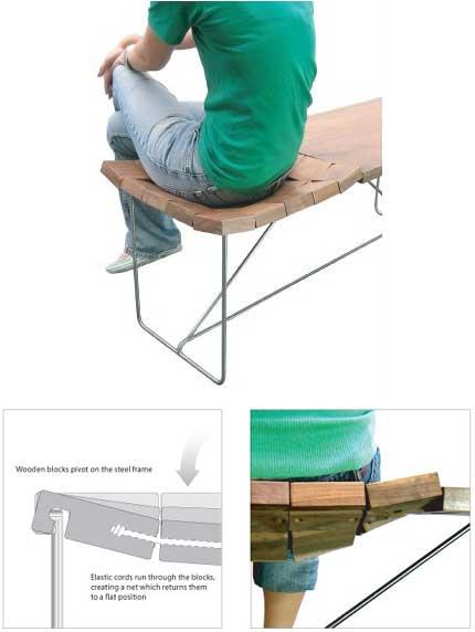 panca soffice ergonomica