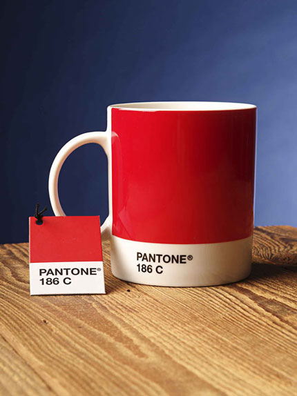 tazza pantone red