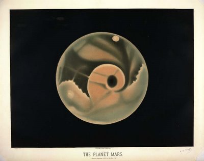 pittura del pianeta marte 1877