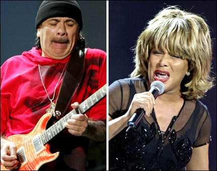 Santana e Tina Turner