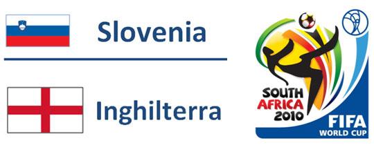 Slovenia - Inghilterra Mondiali Sudafrica 2010