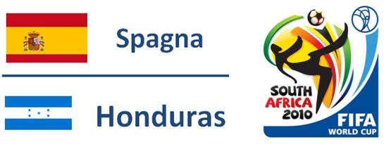 Spagna - HondurasMondiali Sudafrica 2010