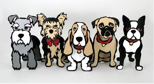 Cani 3D cartone