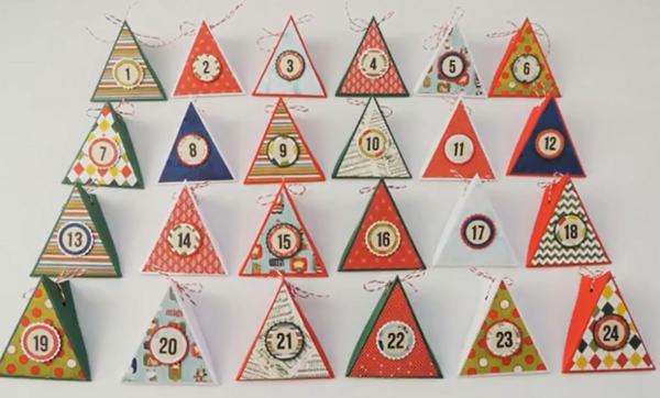 calendario dell'avvento triangoli