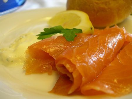 girelle salmone affumicato