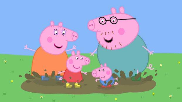 peppa pig e famiglia